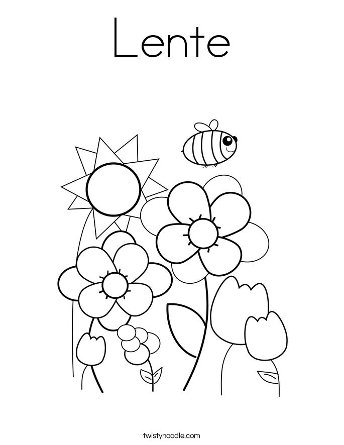 Lente Coloring Page