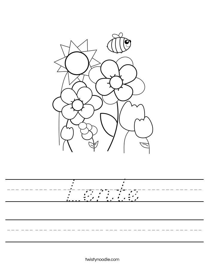 Lente Worksheet