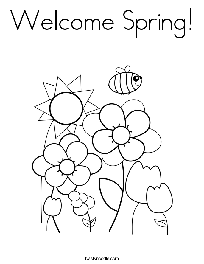 Welcome Spring! Coloring Page