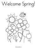 Welcome Spring!Coloring Page