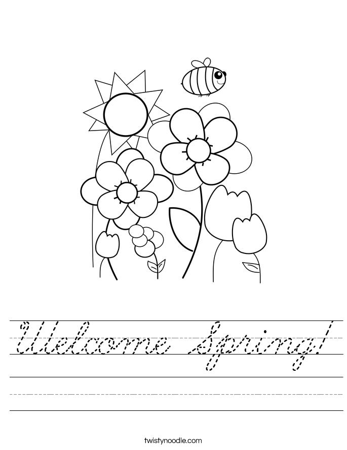 Welcome Spring! Worksheet