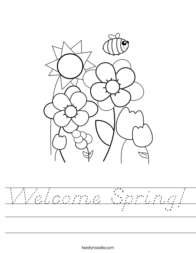 Welcome Spring! Worksheet