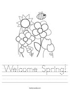 Welcome Spring Handwriting Sheet