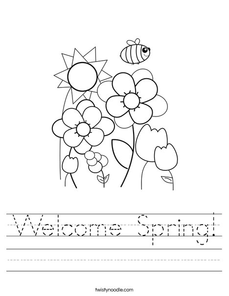 Welcome Spring Worksheet Twisty Noodle