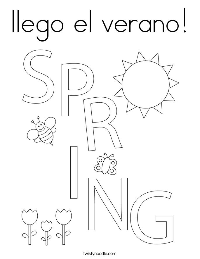 llego el verano! Coloring Page