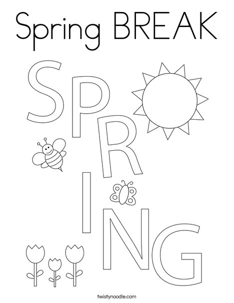 spring break coloring pages - photo#17