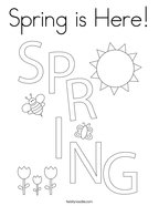 Spring is Here Coloring Page