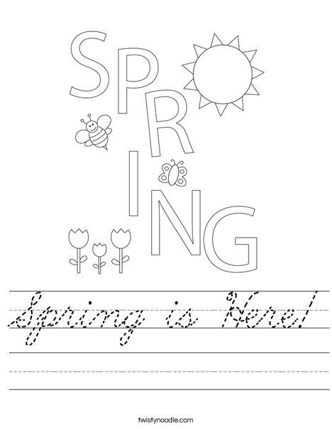 Spring is Here! Worksheet