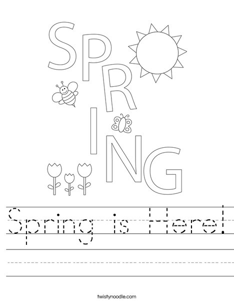 Spring is Here! Worksheet