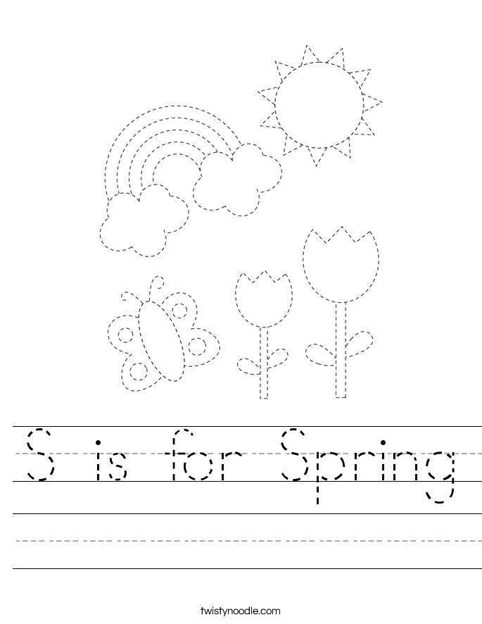 S is for Spring Worksheet