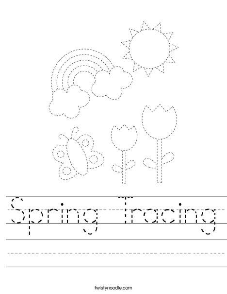 Spring Tracing Worksheet