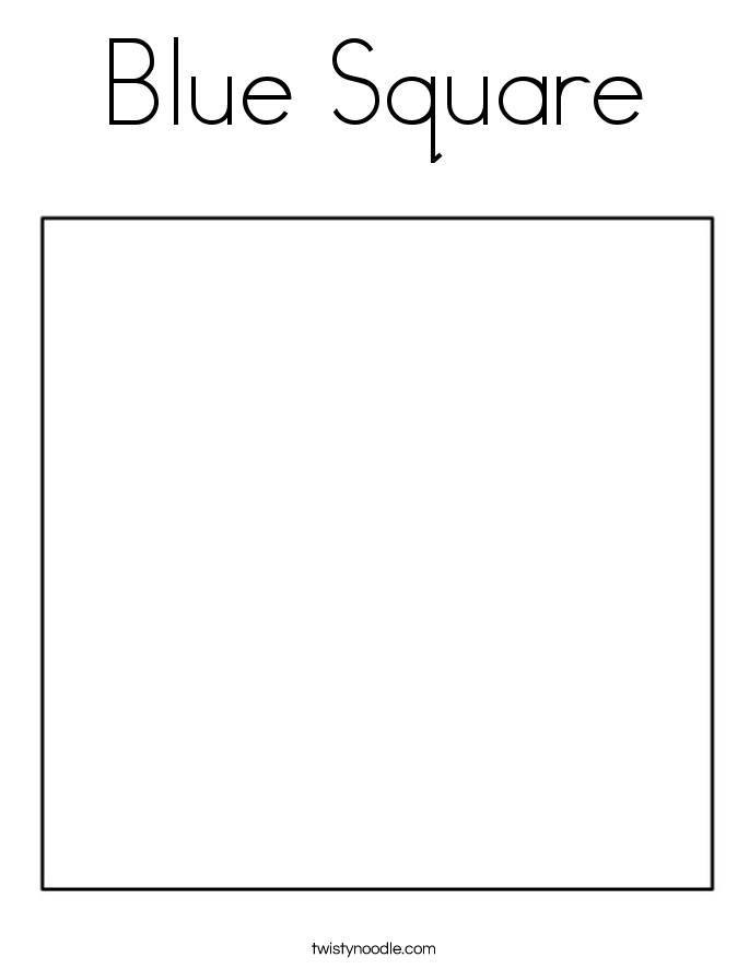 Blue Square Coloring Page