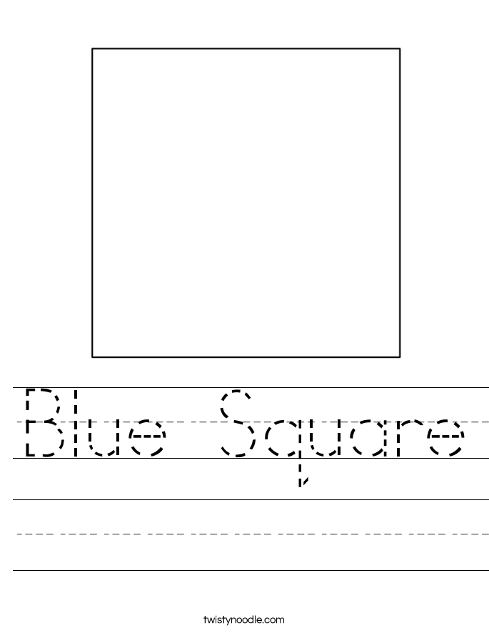 Blue Square Worksheet