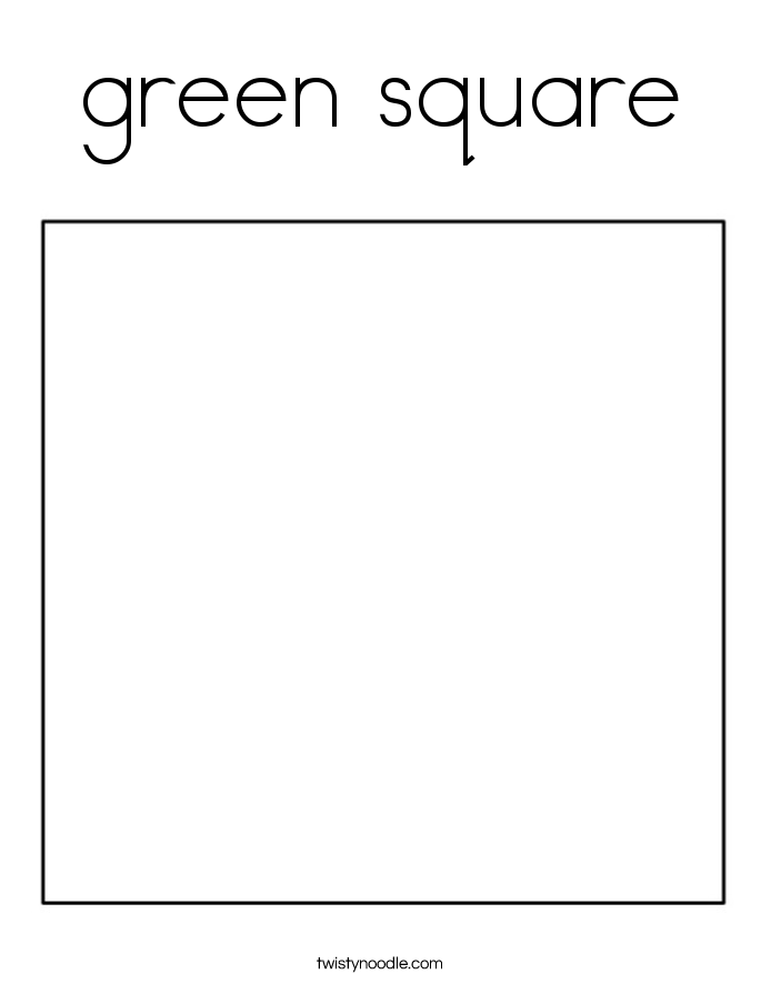 green square Coloring Page