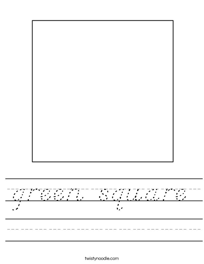 green square Worksheet