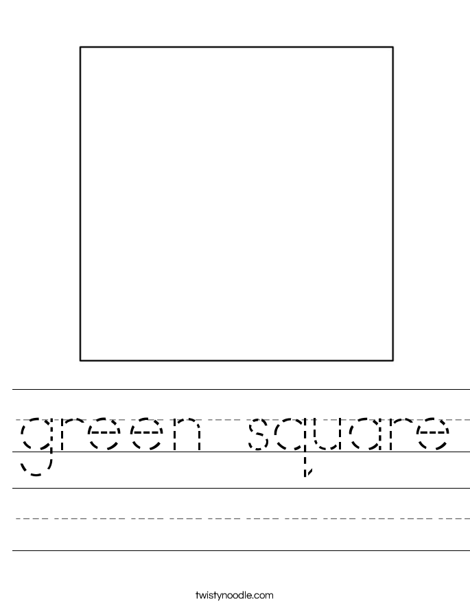 green square Worksheet