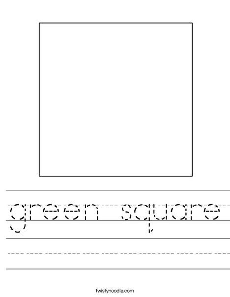green square Worksheet - Twisty Noodle