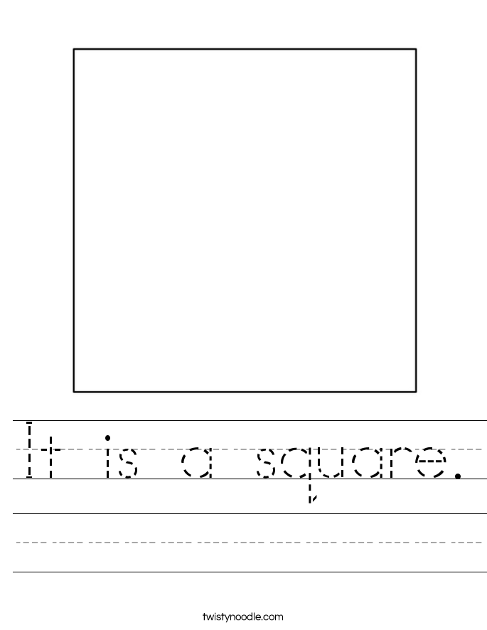 math worksheet : it is a square worksheet  twisty noodle : Square Worksheets