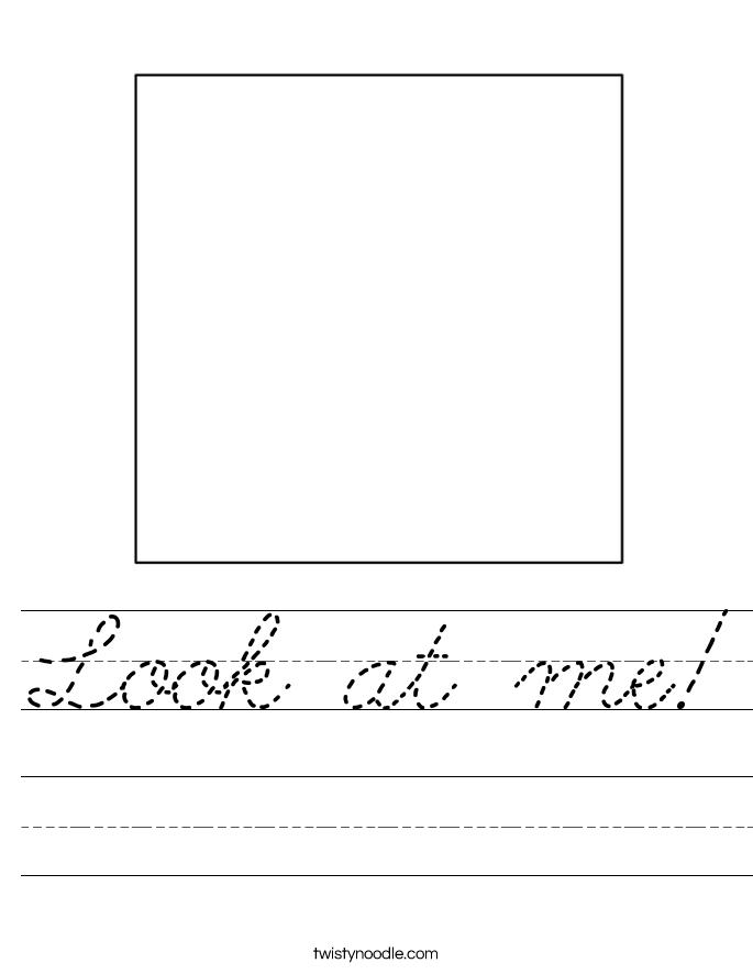 Look at me! Worksheet