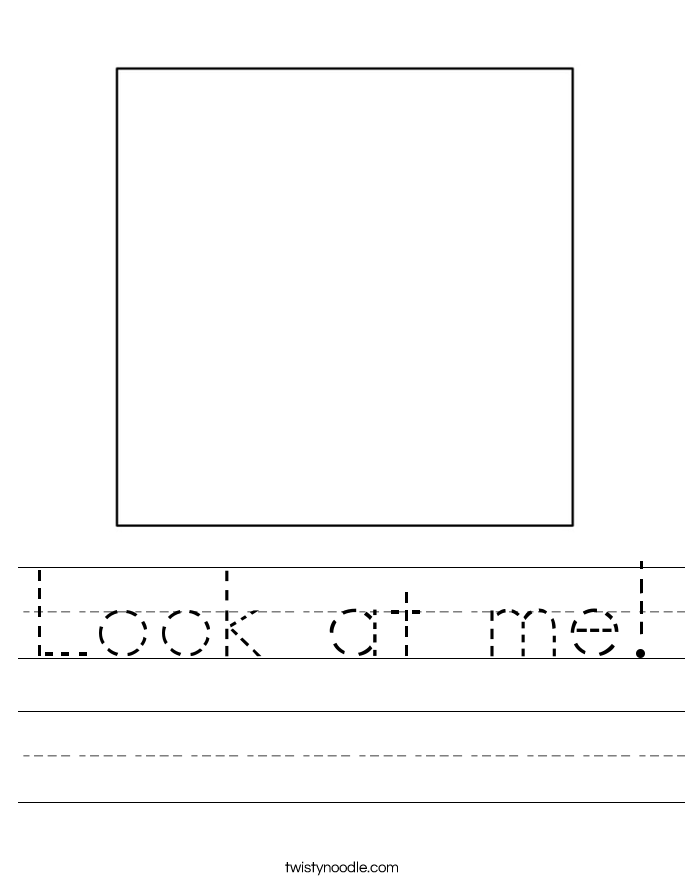 Look at me! Worksheet