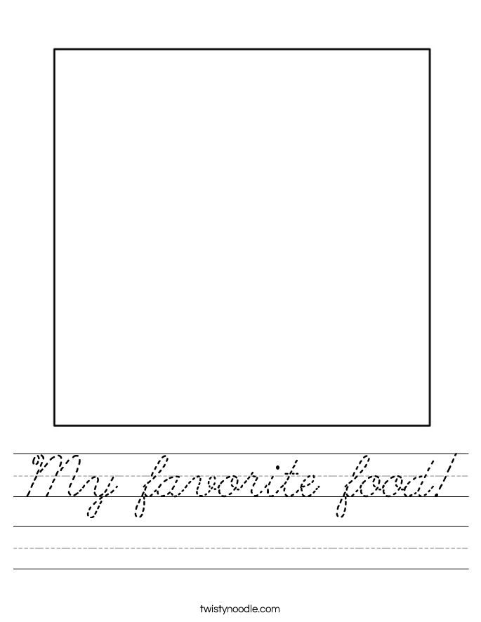 Snap My Favorite Color Is Worksheet D Nealian Twisty Noodle Photos