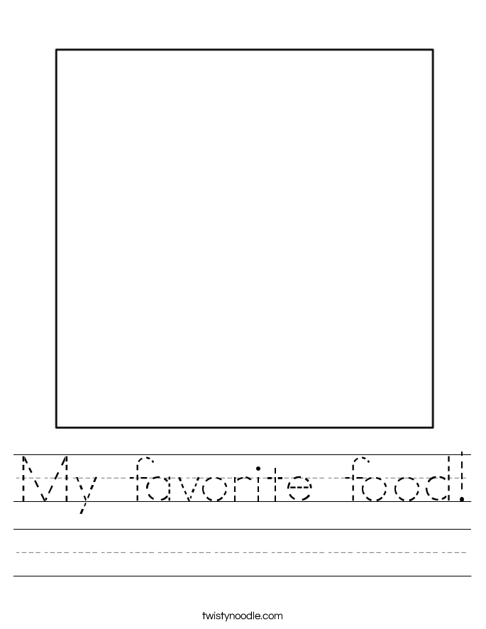 My favorite food! Worksheet