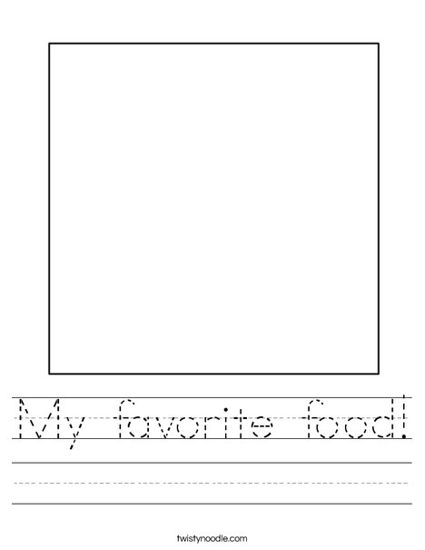 my favorite food worksheet twisty noodle square 1 worksheet