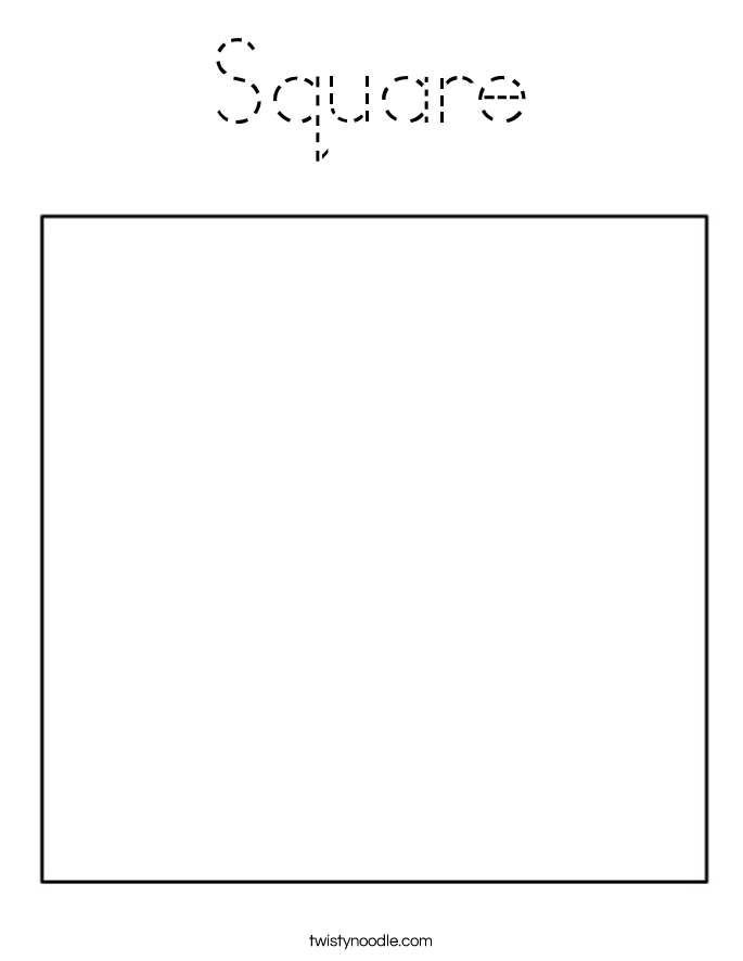 squares coloring pages for preschool - photo#31