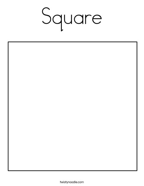 coloring pages for square shape - photo#13