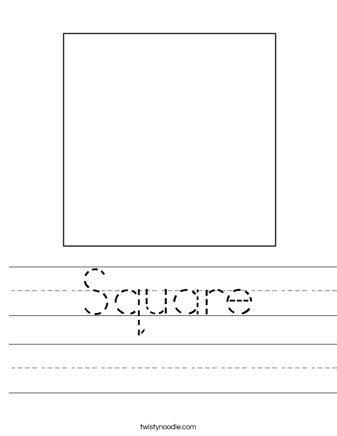 Square Worksheet - Twisty Noodle