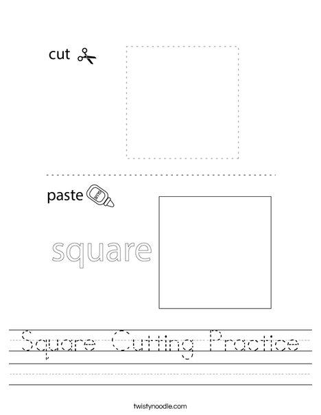 Square Cutting Practice Worksheet