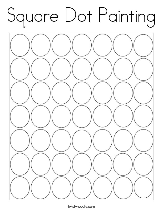 Square Dot Painting Coloring Page