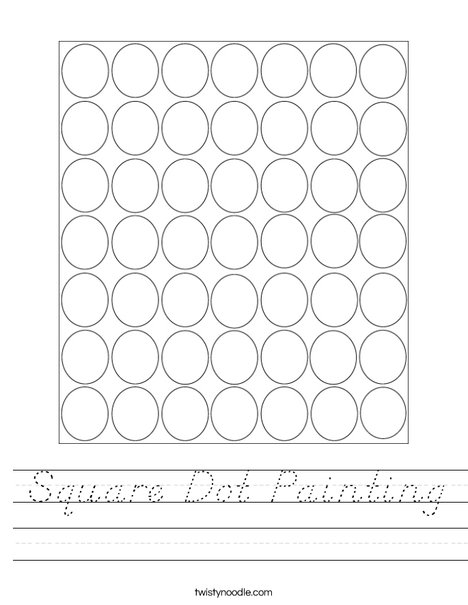 Square Dot Painting Worksheet