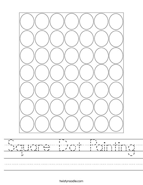 Square Dot Painting Worksheet
