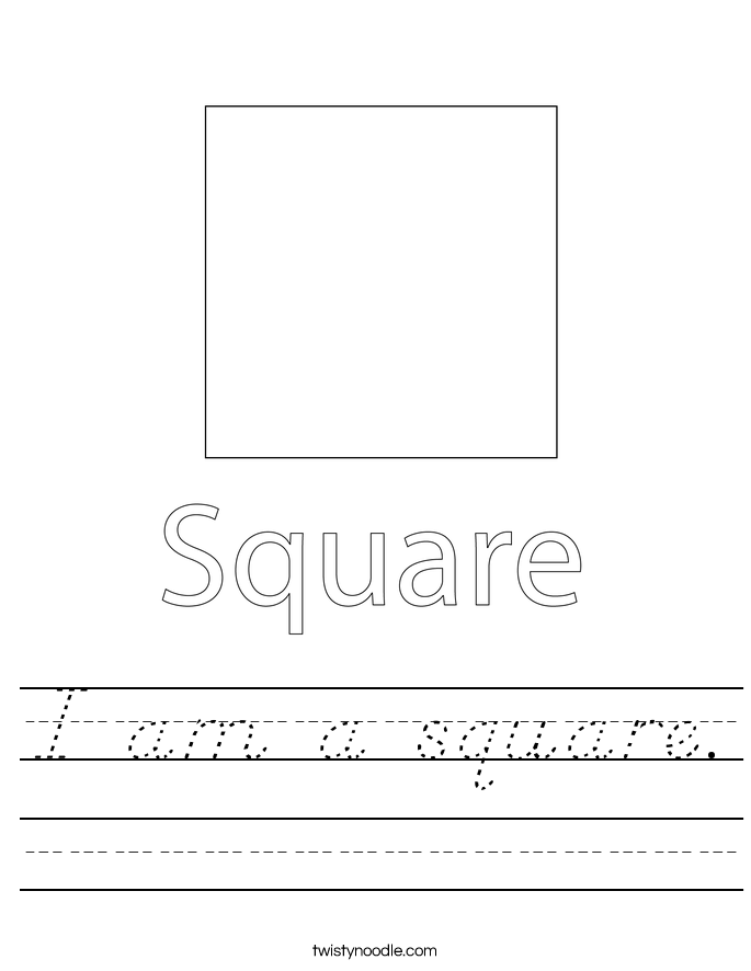 I am a square. Worksheet