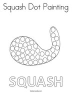 Squash Dot Painting Coloring Page