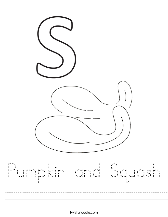 Pumpkin and Squash Worksheet