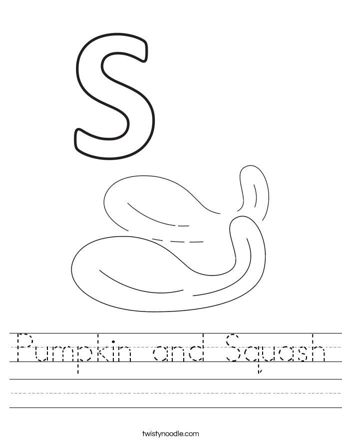 Pumpkin and Squash Worksheet