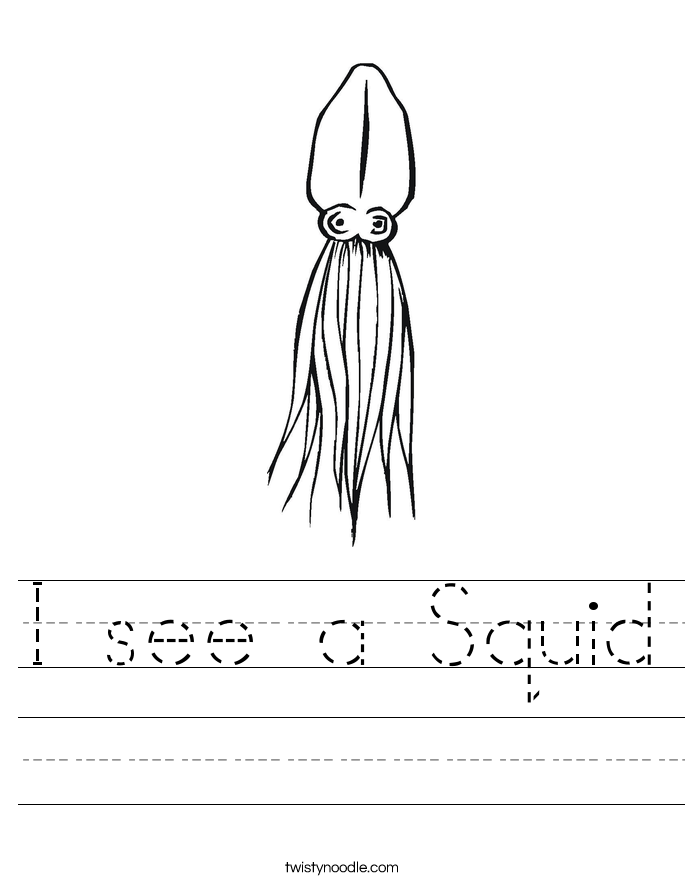 I see a Squid Worksheet