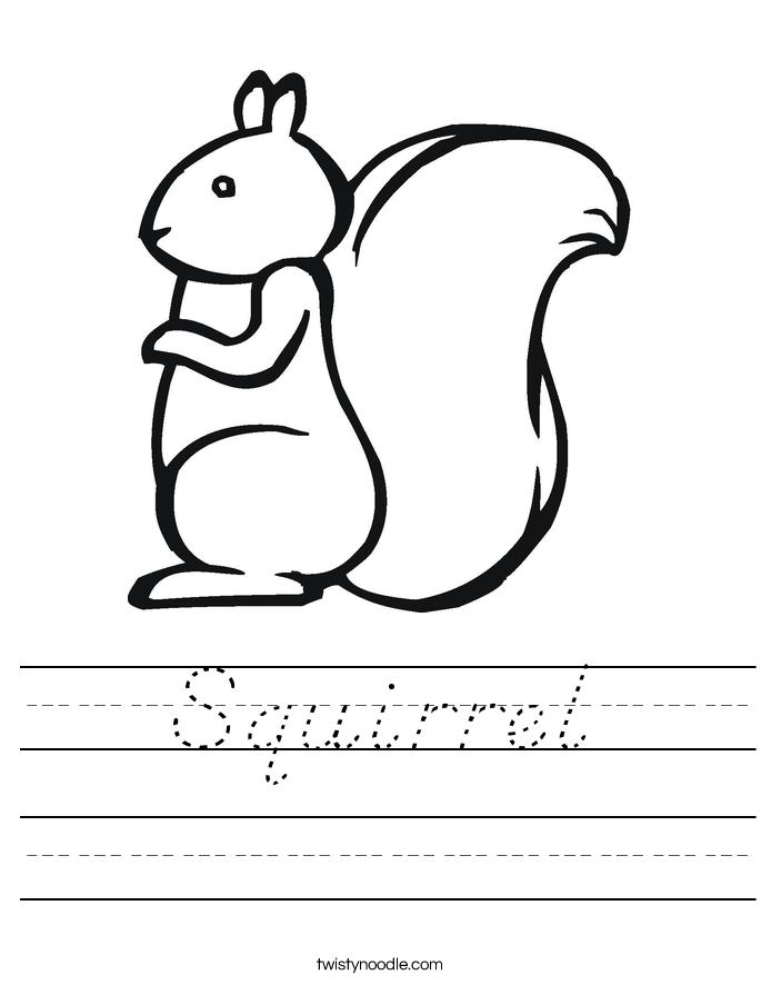 Squirrel Worksheet