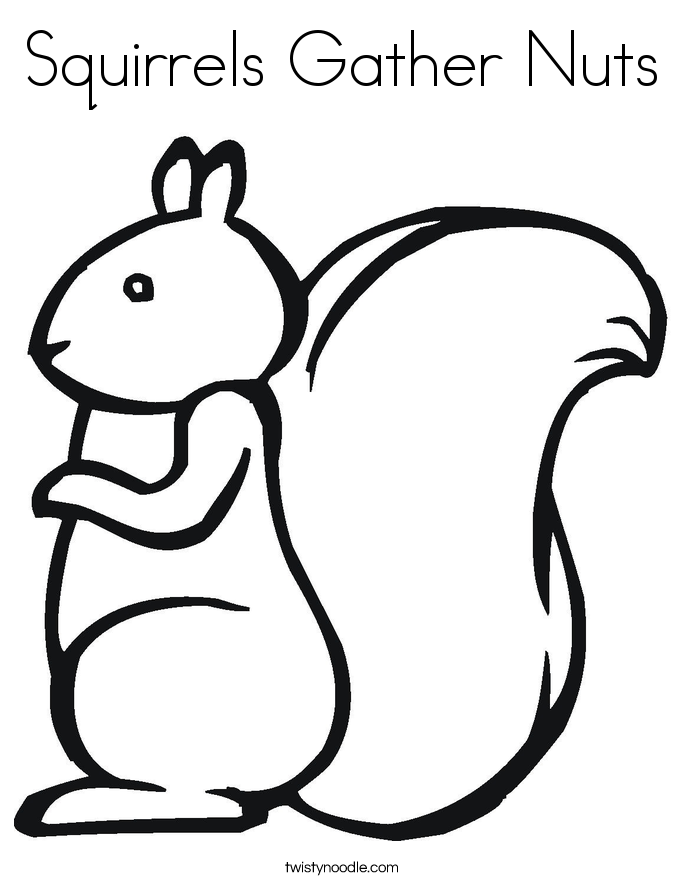 Printable squirrel craft template car tuning