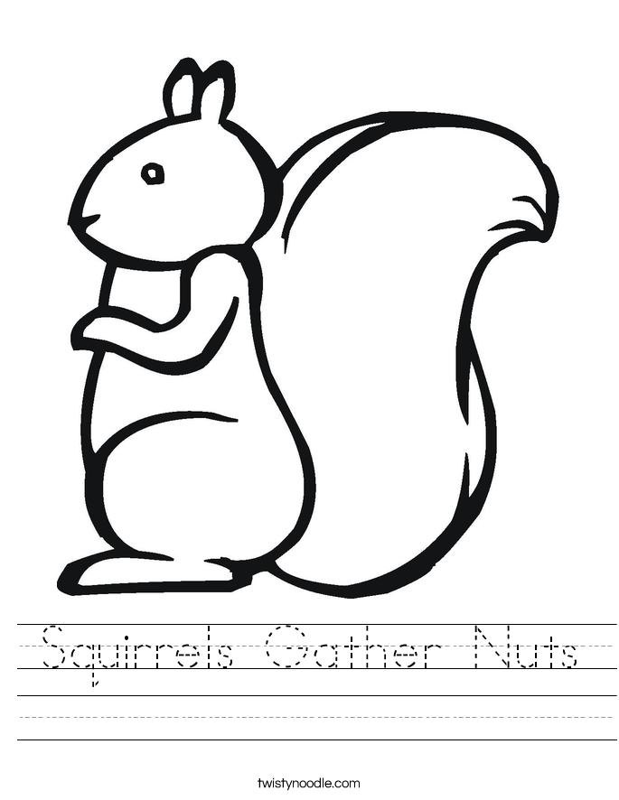 Squirrels Gather Nuts Worksheet