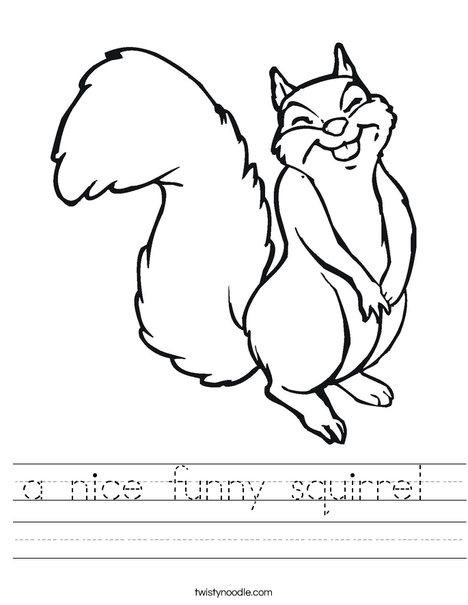 Happy Squirrel Worksheet