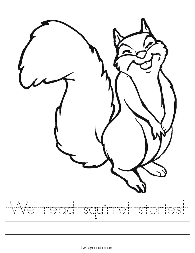 We read squirrel stories! Worksheet