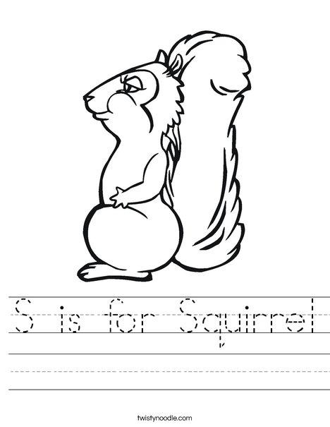 Squirrel1 Worksheet
