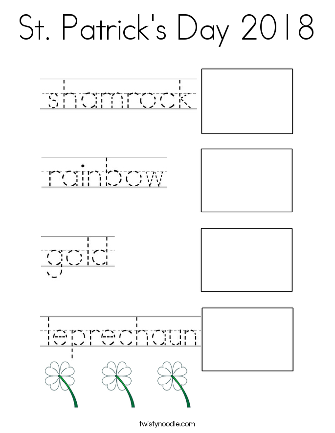 St. Patrick's Day 2018 Coloring Page