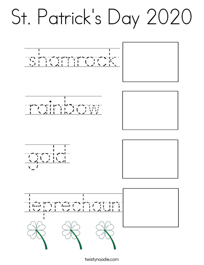 St. Patrick's Day 2020 Coloring Page