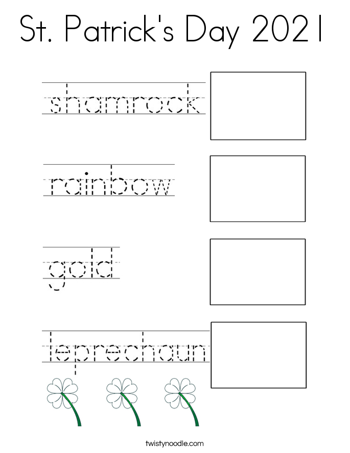 St. Patrick's Day 2021 Coloring Page
