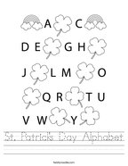 St Patrick's Day Alphabet Handwriting Sheet