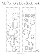 St Patrick's Day Bookmark Coloring Page
